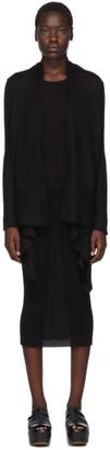 Rick Owens Black Medium Wrap Cardigan