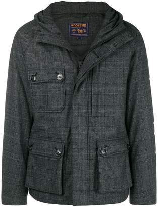 Woolrich check down jacket