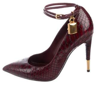 Tom Ford Snakeskin Pointed-Toe Pumps