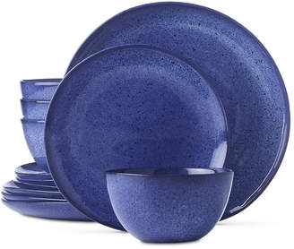 Hotel Collection Closeout! Olaria Lapis 12-Pc. Dinnerware Set, Service for 4, Created for Macy's