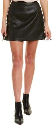 BCBGMAXAZRIA Leather Side Slit Pencil Skirt