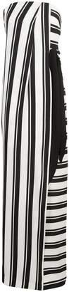 Halston striped strapless maxi dress