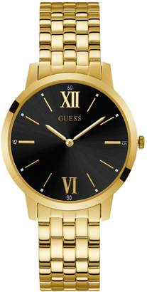 GUESS Work Life Collection Goldtone Stainless Steel Link Bracelet Watch