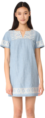 Madewell Embroidered Chambray Tunic Dress $158 thestylecure.com