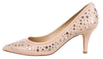 Diane von Furstenberg Embellished Pointed-Toe Pumps