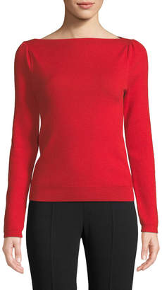 Co Boat-Neck Fine Cashmere Sweater