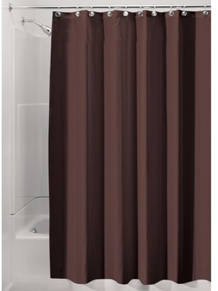 InterDesign Waterproof Fabric Shower Curtain Liner, Various Sizes & Natural Colors