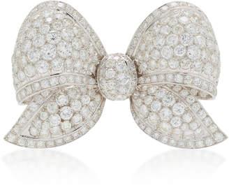 Moira Fine Jewellery 18K White Gold Diamond Bow Brooch