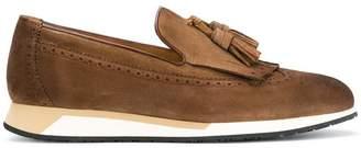 Santoni wedge sole loafers