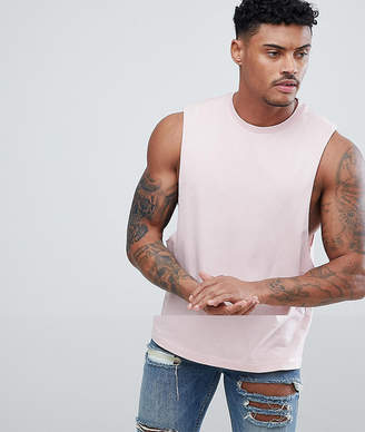 Asos DESIGN tank with dropped armhole in pink