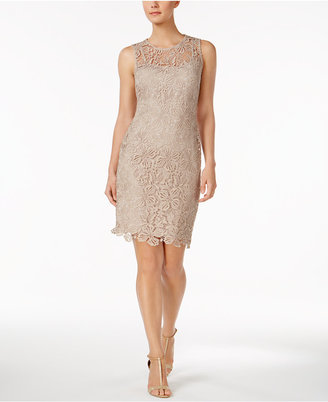 Calvin Klein Lace Sheath Dress $159 thestylecure.com