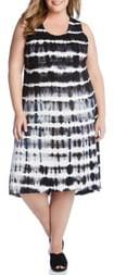 Karen Kane Tie Dye Stripe High/Low Dress