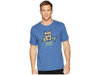 Life is Good Good Catch Rocket Smooth Tee