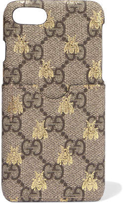 Gucci Printed Coated-canvas Iphone 7 Case - Beige