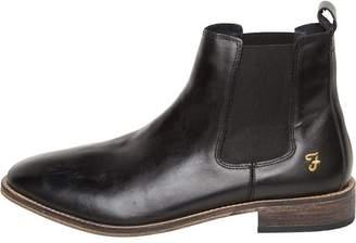 Farah Mens Kirk Leather Chelsea Boots Black