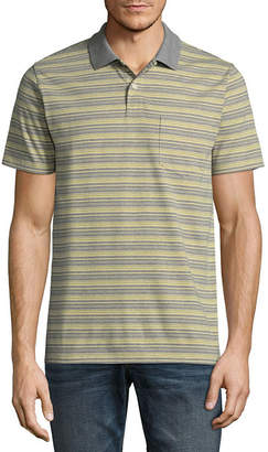 ST. JOHN'S BAY Short-Sleeve Striped Jersey Polo