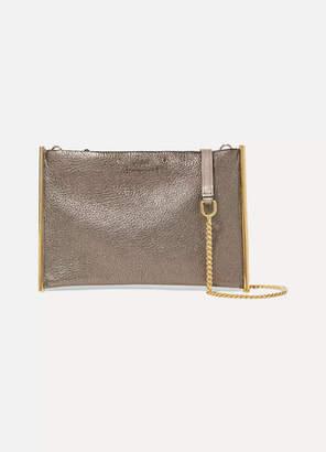 Chloé Roy Small Metallic Textured-leather Shoulder Bag - Bronze