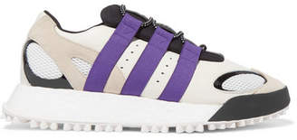 adidas By Alexander Wang - Wangbody Run Mesh, Suede And Leather Sneakers - Off-white