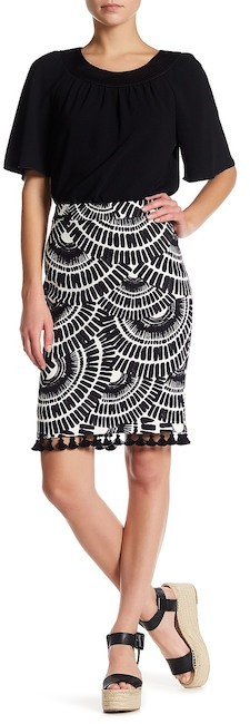 Trina Turk Dorris Printed Pencil Skirt