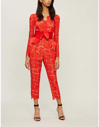 Stella McCartney Pearl tapered lace jumpsuit