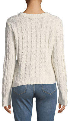 Free Generation Asymmetric Chunky Cable-Knit Sweater