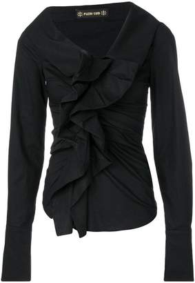 Plein Sud Jeans ruched blouse