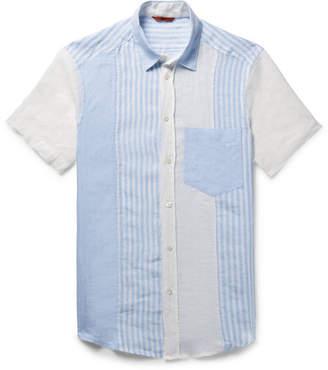 Barena Patchwork Linen Shirt