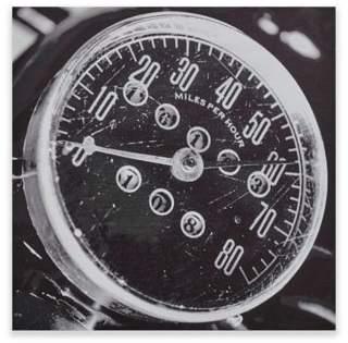 INK+IVY Speedometer Box Wall Art in Grey