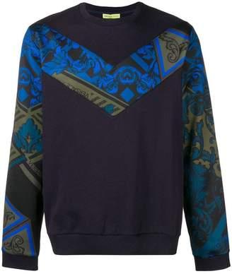 Versace printed insert jumper
