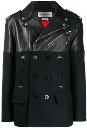 Alexander McQueen leather and wool jacket