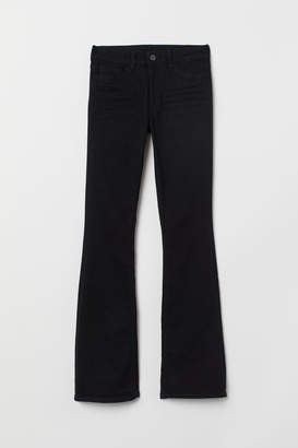 H&M Mini Flare High Jeans - Black
