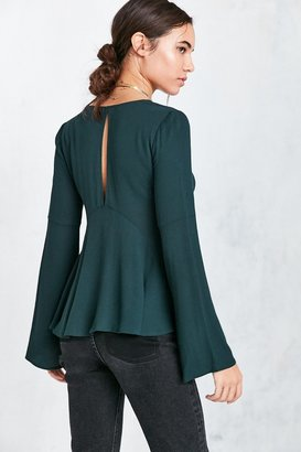 Kimchi Blue Sidney Bell-Sleeve Babydoll Blouse $59 thestylecure.com