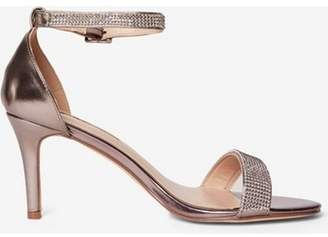Dorothy Perkins Womens Pewter 'Bling' Heeled Sandals