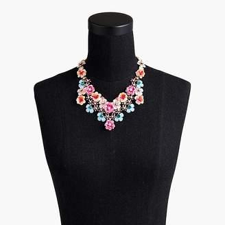 J.Crew Flower garden statement necklace