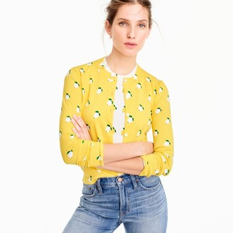 Cotton Jackie cardigan sweater in lemon print $79.50 thestylecure.com