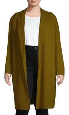Lafayette 148 New York Plus Open-Front Long Wool Jacket