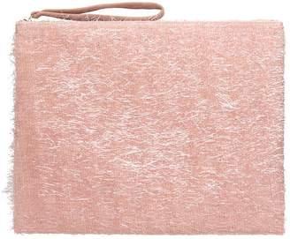 Anniel Big Clutch Furry Lurex Pink Pochette