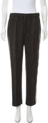 Dries Van Noten Stripe-Accented Wool Pants Grey Stripe-Accented Wool Pants