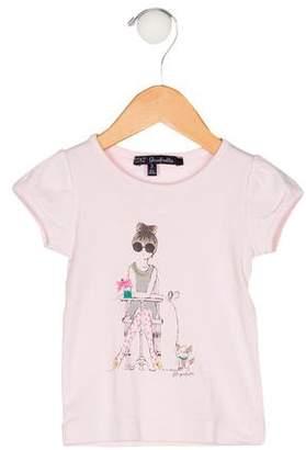 Lili Gaufrette Girls' Printed Top