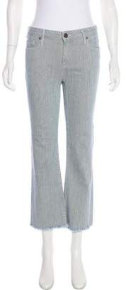 Erin Fetherston Mid-Rise Striped Jeans