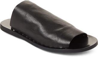 Officine Creative Black Fira Leather Slide Sandals