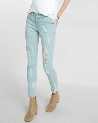 Express Mid Rise Distressed Stretch+Performance Ankle Jean Legging