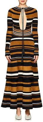 Proenza Schouler Women's Multi-Striped Keyhole Dress