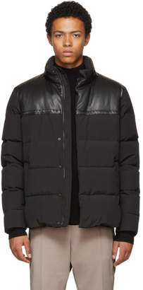 Bottega Veneta Black Nylon and Leather Down Parka
