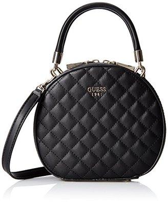 GUESS Azalee Petite Round Case Black Quilt $78 thestylecure.com