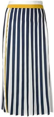 Victoria Beckham Victoria coloublock pleated midi skirt