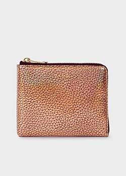 Paul Smith Men's Bronze Leather Corner-Zip Wallet