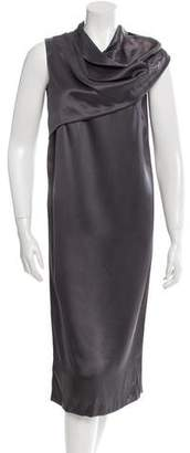 Bottega Veneta Silk Midi Dress w/ Tags