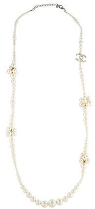 Chanel Pearl Strand CC Necklace $1,025 thestylecure.com