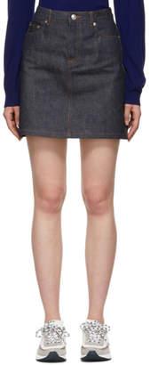A.P.C. Indigo Standard Denim Miniskirt